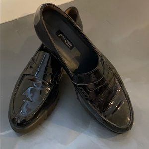 Paul Green black patent leather loafers size 9 1/2